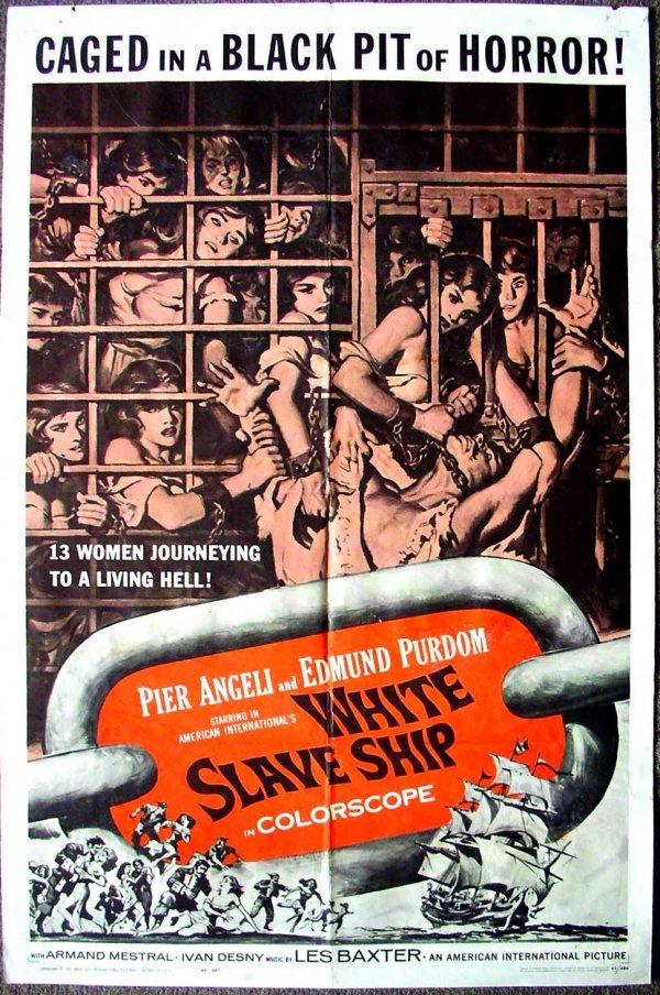 1026: Movie Poster: White Slave Ship, 1962
