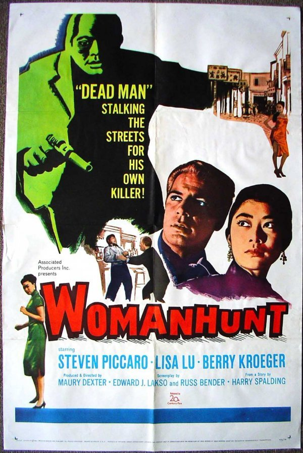1028: Movie Poster: Woman Hunt, 1961