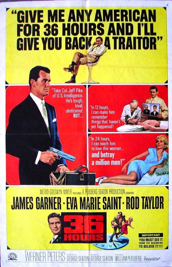 1029: Movie Poster: 36 Hours,1964