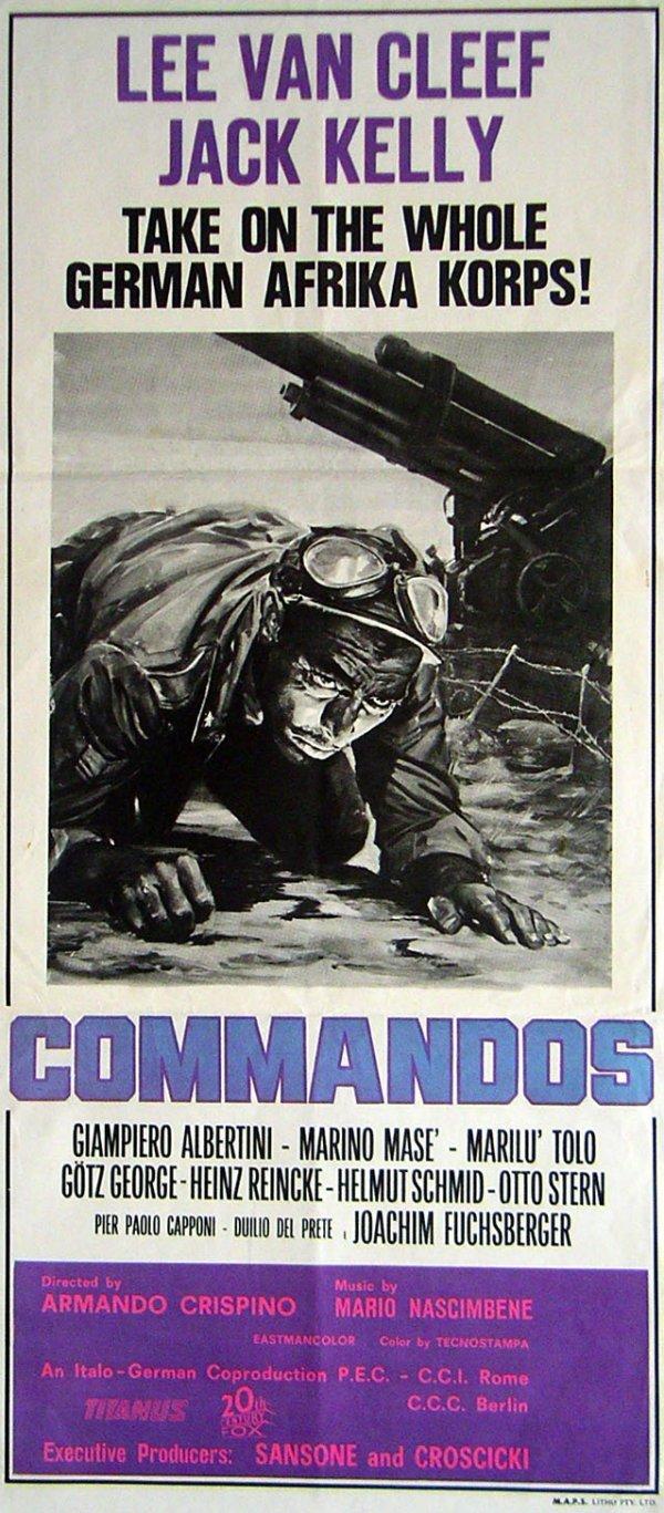 1039: Movie Poster: Commandos, daybill, 1968