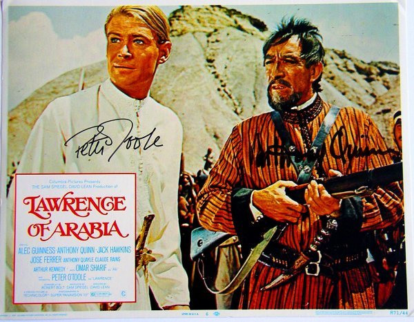 1040: Movie Poster: Lawrence Of Arabia, signed