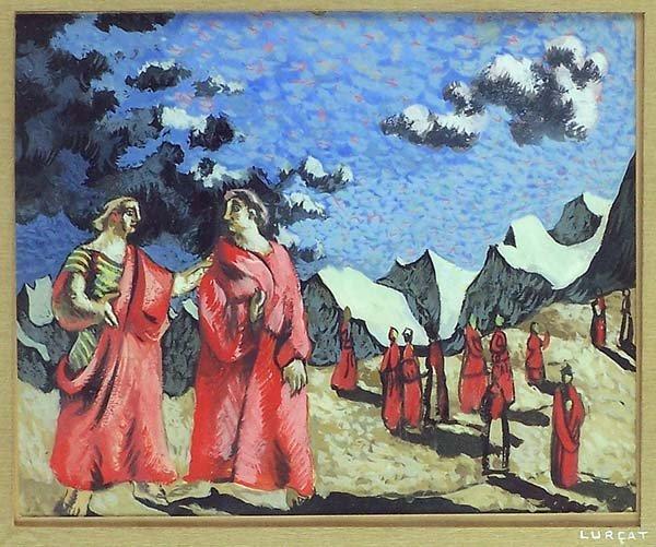 1095: Gouache ptg. by Jean Lurcat