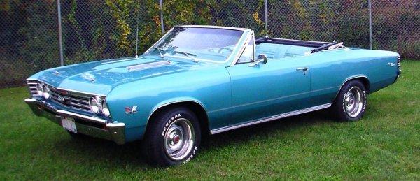 26: 1967 Chevy Malibu Convertible