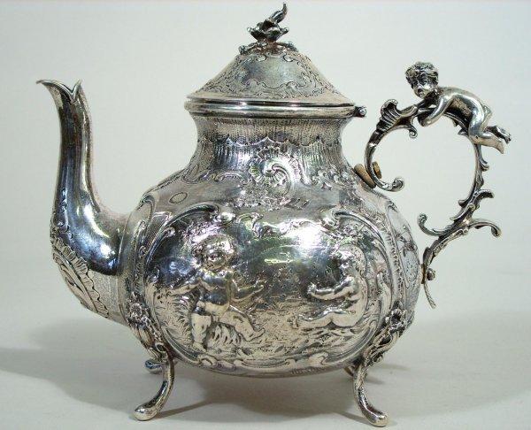 52: 18th c. German Silver Coffee & Tea Pots