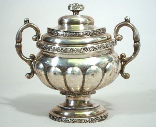 55: Crawford NY 1820 Silver Sugar Bowl