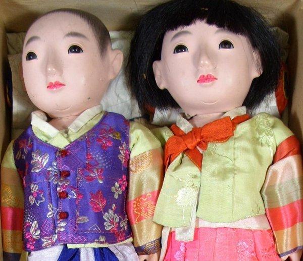 66: Pair of Vintage Ichimatsu Dolls