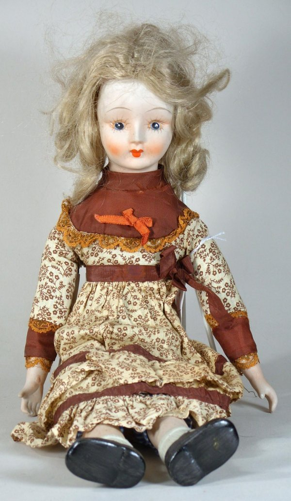 67: Vintage Bisque Doll, Red Lips