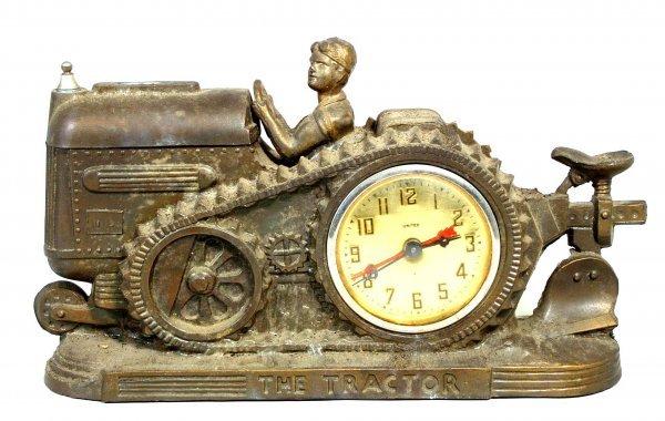 77: Vintage Figural Tractor Clock