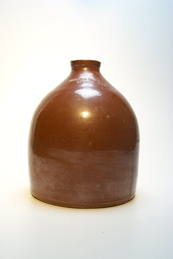 102: 19th c. Stoneware Jug, Alfred Tucker