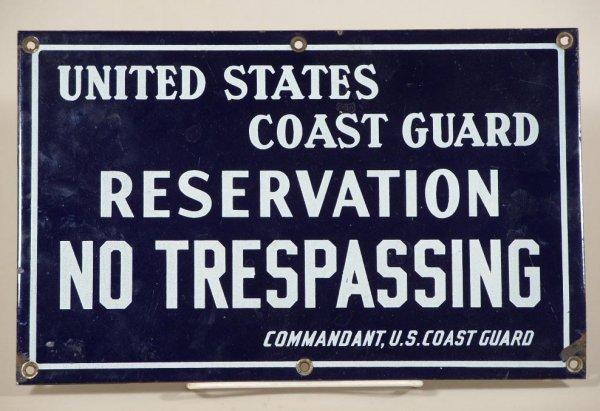 2032: Vintage Coast Guard Porcelain Sign