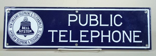 2033: Vintage Bell Telephone sign