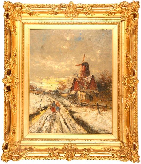 2041: Hendrick Van Straten painting o/c winter