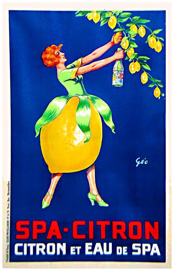 2053: Original Art Deco Poster Spa Citron