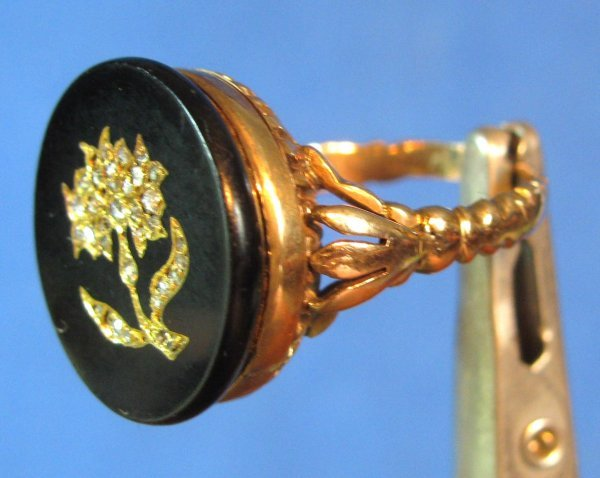 21: Antique Lady's Gold & Onyx Ring