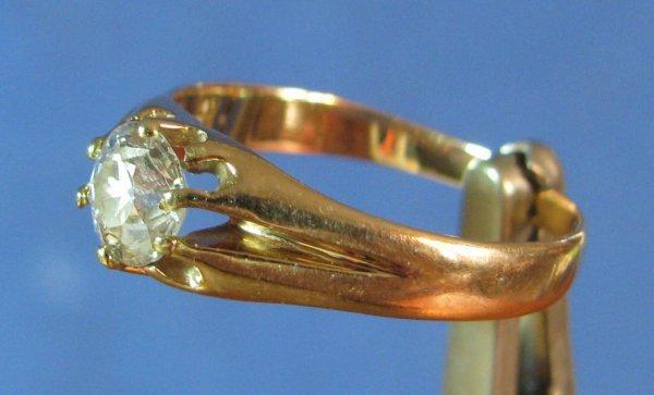 22: A Lady's 14k Gold & Diamond Ring