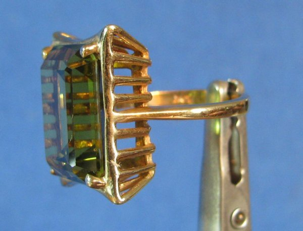29: A Lady's 10k Gold & Citrine Ring