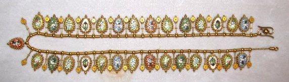 40: A Lady's 18k Micromosaic Necklace