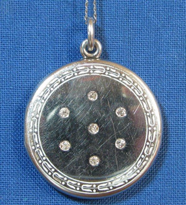 49: A Lady's Platinum & Diamond Locket