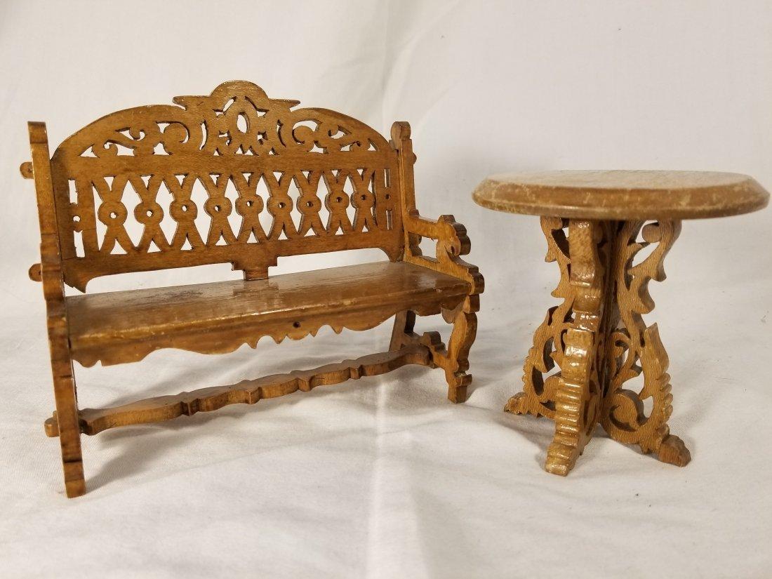 Antique Scroll cut Dollhouse Furniture