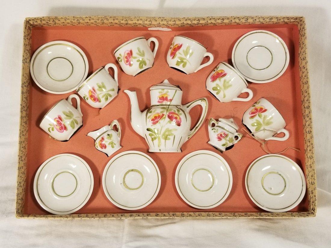 Antique Germany Dolls Tea set with box