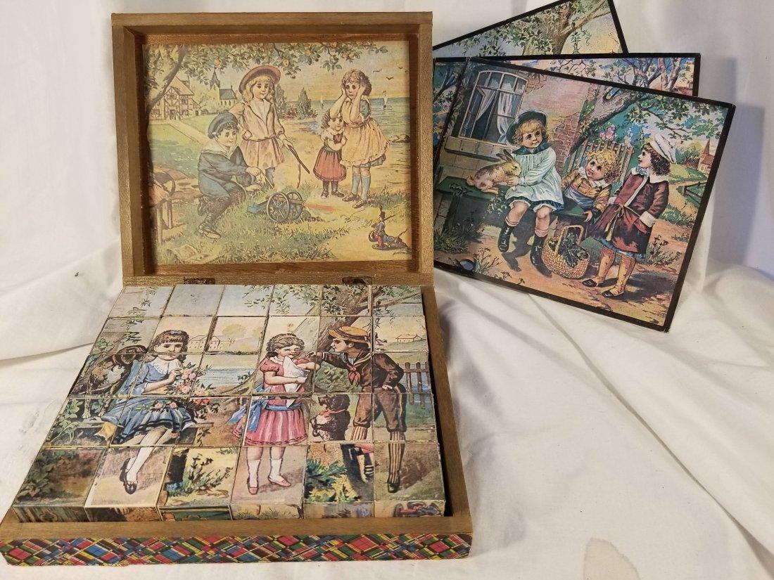 Wooden Puzzle Blocks with Original Box