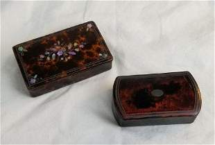 Paper Mache Snuff Boxes