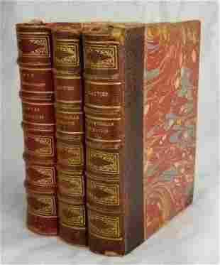 Set Miniature French Leather Bound Books ~ Paris 1887