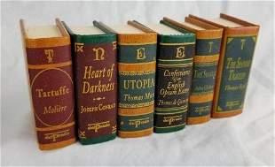 6 Miniature Leather Bound Books