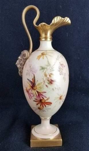 Royal Worcester Porcelain Ewer