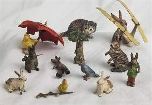 Collection Cold Painted Vienna Bronze Animals
