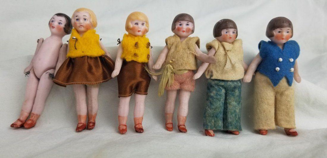 Antique German Bisque DollHouse Dolls