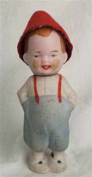 Rare Antique German Bisque Changing Face Doll