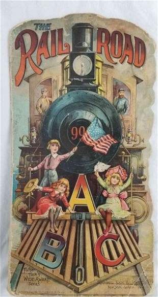 McLoughlin Brothers Railroad book ~ late 19th Century