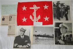 1950s Undersecretary of the Navy Flag & Autographs