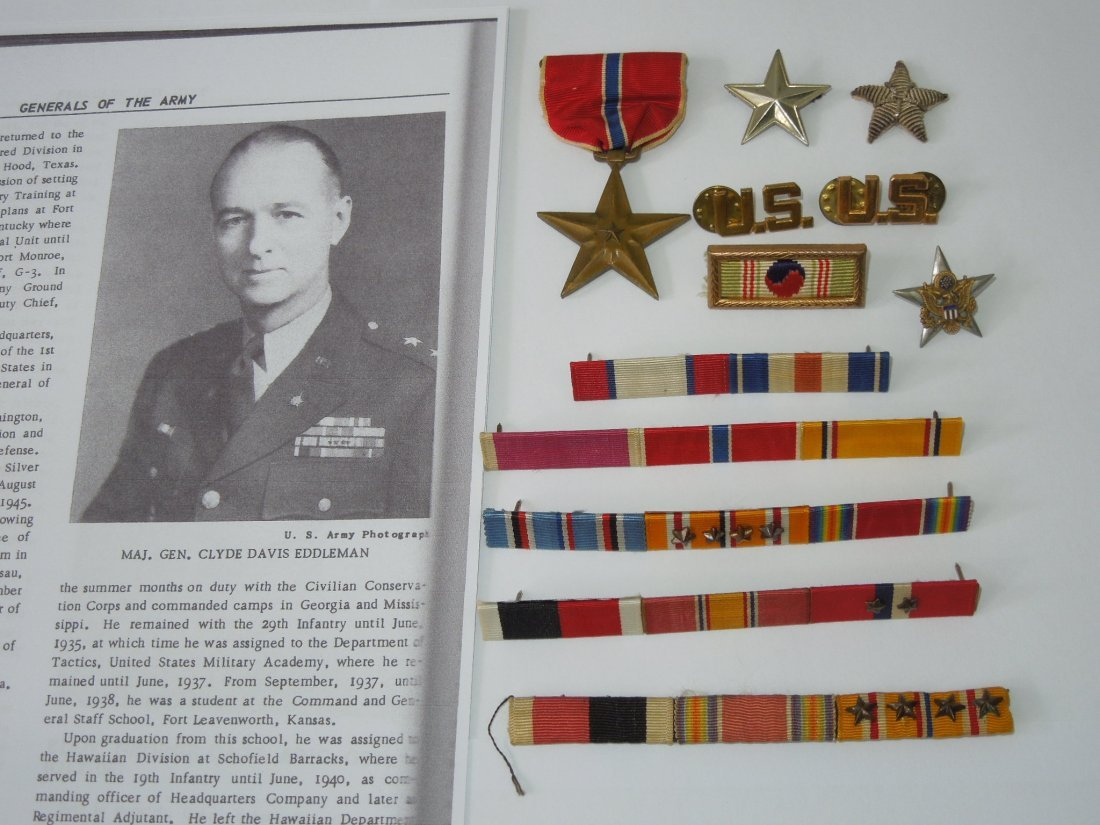Ribbons, Medal, Stars to US Army General Clyde Eddleman