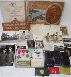 WWII 7th AAF General's Medal Scrapbook Photo Group