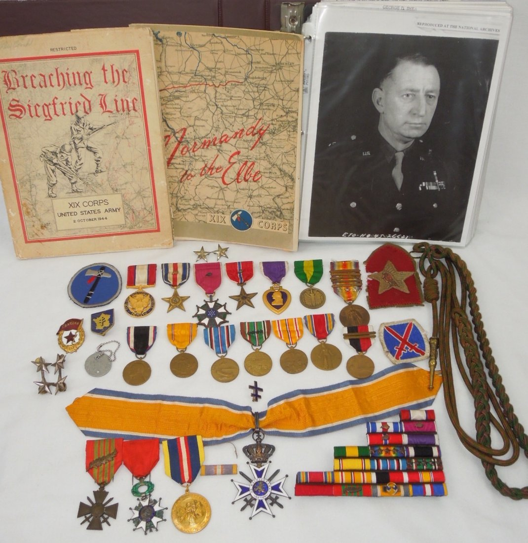 WWII XIX Corps General Shea Silver Star DSM Medal Group