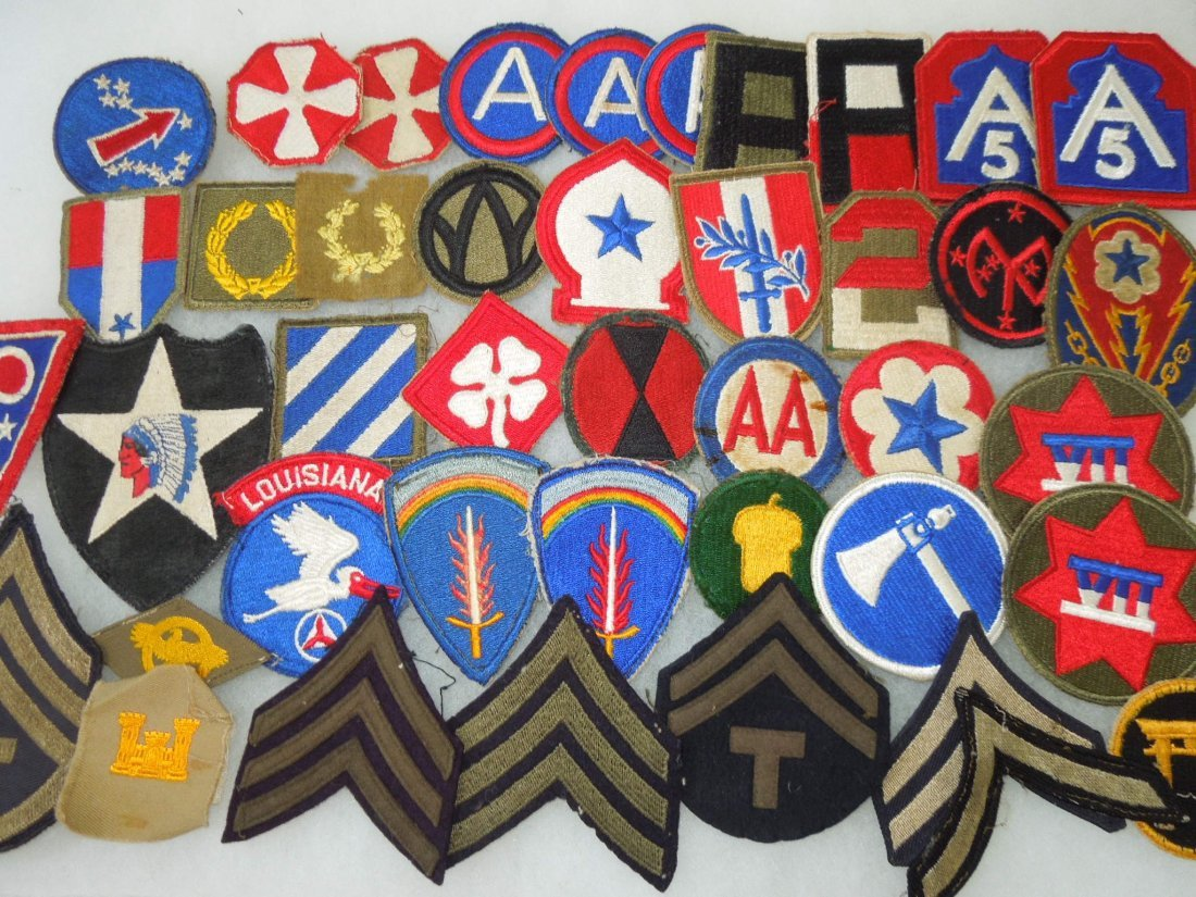WWII-1950s US Army Patches & Sleeve Insignia Large Lot