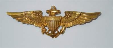WWII US Navy Aviator Full Sized Vanguard Wings