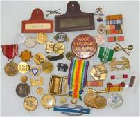 Lot of WWII - Modern US Military Pins Insignia Medals