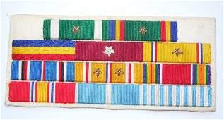 WWII Korea US Navy Custom Embroidered Ribbon Bar