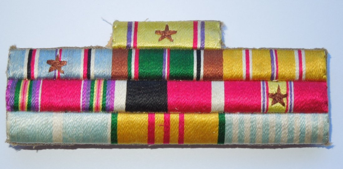 WWII Korea Vietnam US Army Embroidered Ribbon Bar