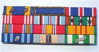 WWII - Vietnam US Air Force Embroidered Ribbon Bar