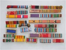 WWII - Vietnam Lot of US Military Ribbon Bars