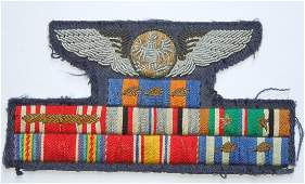 WWII 1950s USAF Bullion Wings Embroidered Ribbon Bar