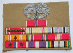 WWII US Army Medics Bullion Embroidered Ribbon Bar
