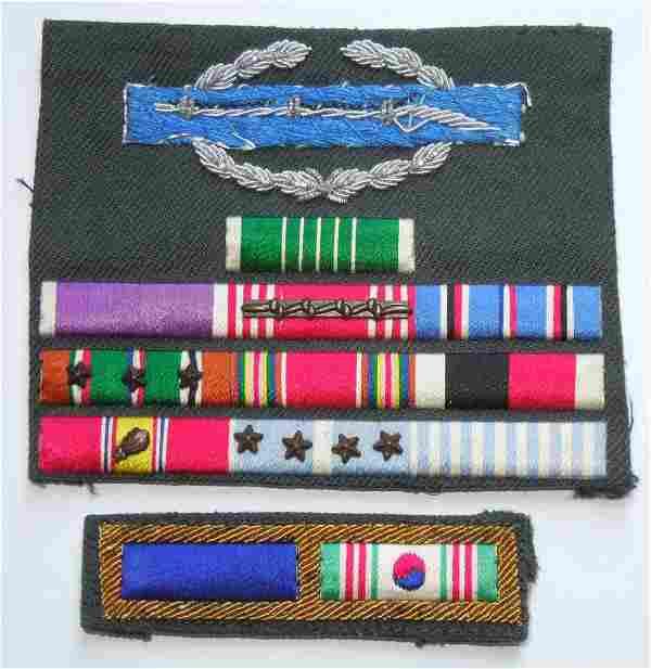 WWII - Korean War US Army Bullion CIB Custom Ribbon Bar