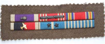 Korean War Berlin Airlift Purple Heart Ribbon Bar