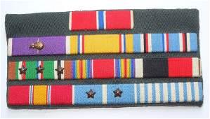 WWII - Korean War Bronze Star Custom Ribbon Bar