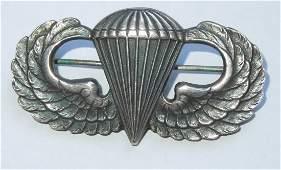 WWII Sterling US Jump Airborne Wings Jack Heller